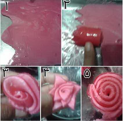 طرز تهیه ژله رولی گل رز