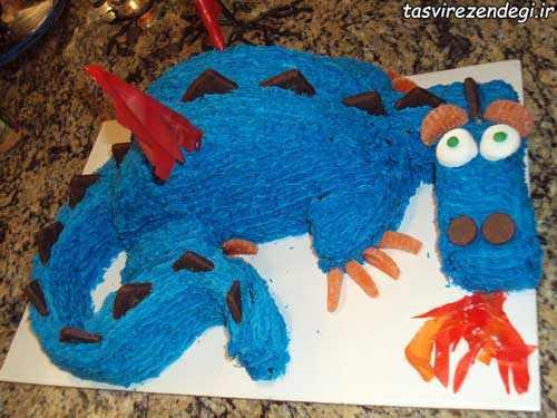 ساخت کیک تولد به شکل اژدها