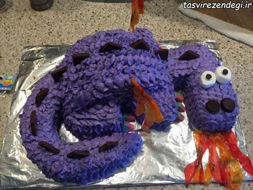 طرز تزیین لواشک آموزش تزیین کیک تولد به شکل اژدها