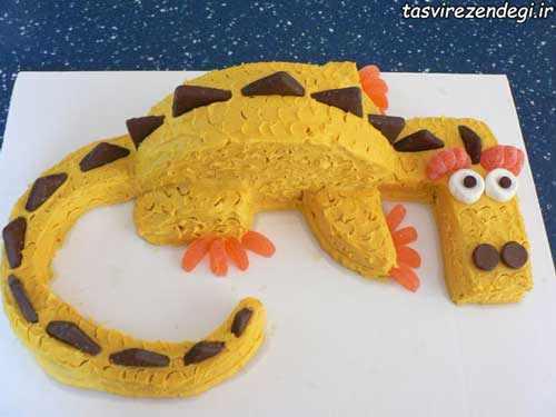 آموزش تزیین کیک تولد به شکل اژدها