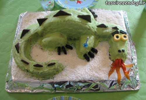 آموزش ساخت کیک اژدهای آتشین