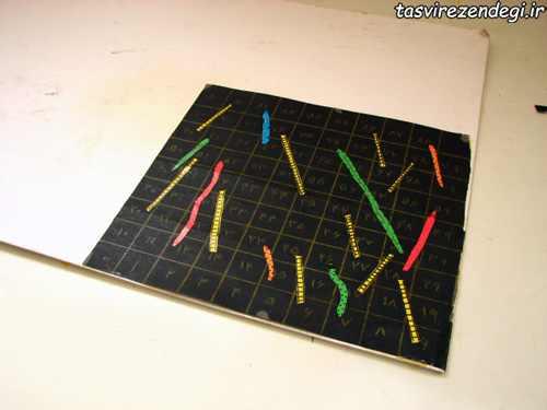 روش ساخت تخته بازی مار و پله