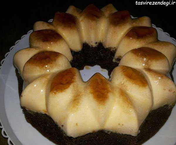طرز تهیه کیک کارامل دارک چاکلت