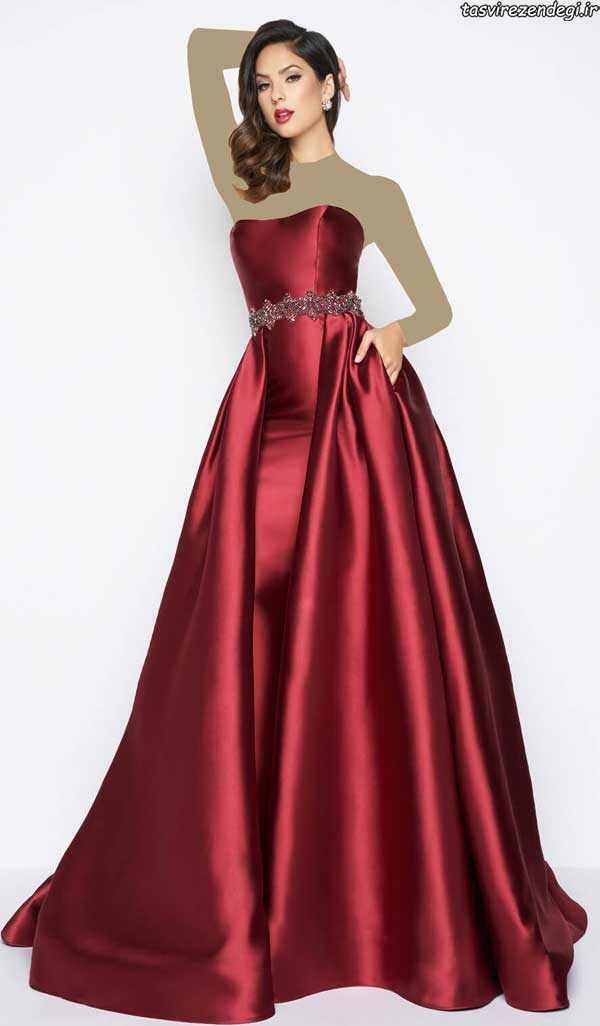 مدل لباس عقد, مدل لباس نامزدی ابریشمی قرمز