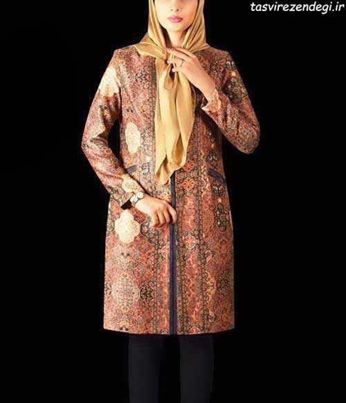 مدل مانتو رسمی سنتی طرح فرش