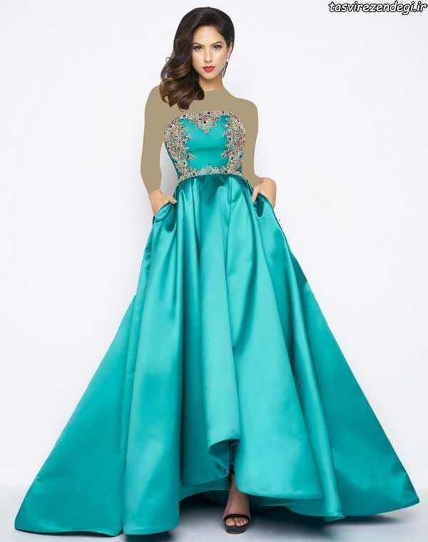 مدل لباس عقد, مدل لباس نامزدی دکلته پرنسسی