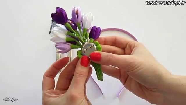 آموزش گلسازی , آموزش ساخت گل زعفران روبانی