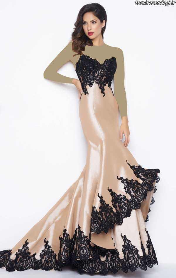 مدل لباس نامزدی دکلته, لباس مجلسی گیپور