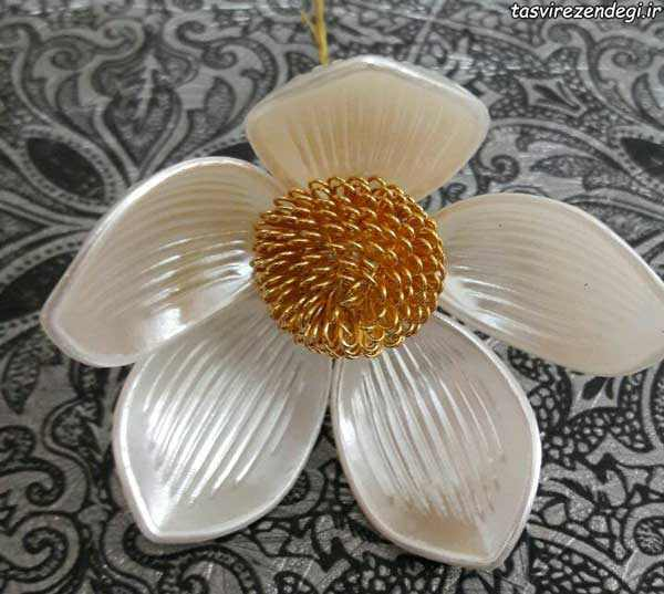 تزیین جا دستمال کاغذی , آموزش گل کریستالی