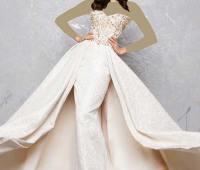 مدل لباس عروس , مدل لباس نامزدی دکلته