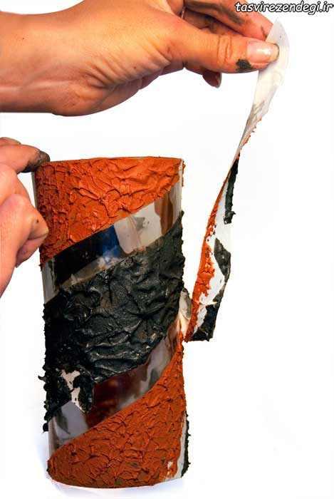 آموزش پتینه کاری گلدان بلور , پتینه روی شیشه