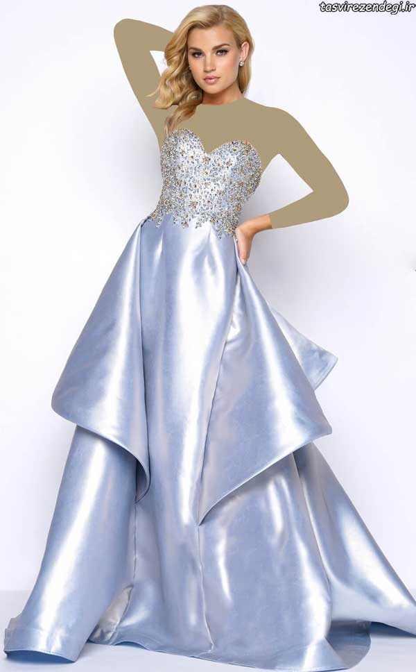 مدل لباس عقد, مدل لباس نامزدی سنگ دوزی