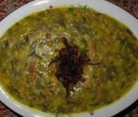 طرز تهیه آش سبزی شیرازی
