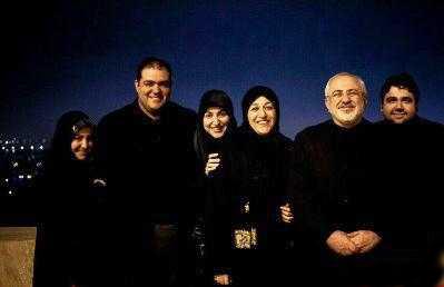 عکس خانوادگی جواد ظریف
