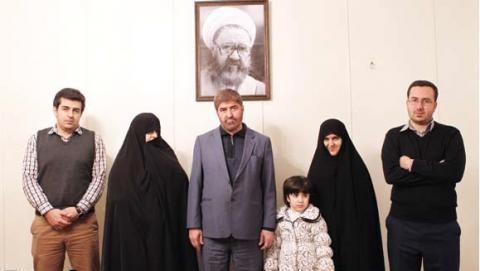 عکس خانوادگی علی مطهری