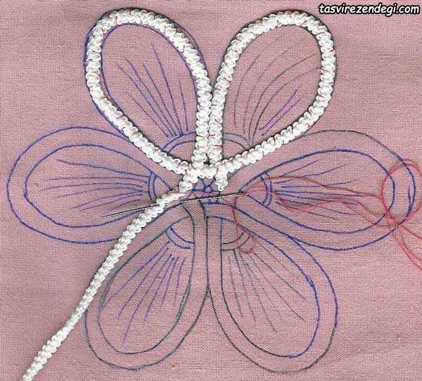 موتیف گل توربافی رومانی