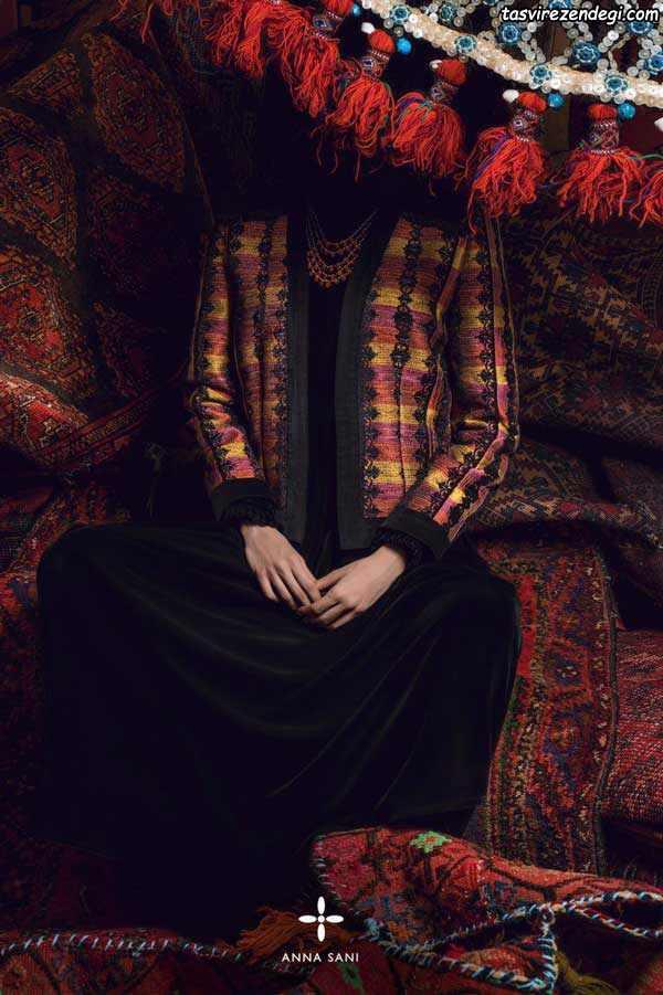 مدل مانتو سنتی جدید ایرانی دخترانه و زنانه برند آنا ثانی کالکشن ۹۶ – ۲۰۱۷
