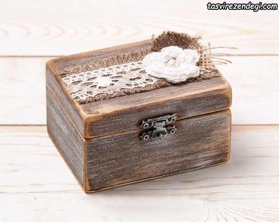 مدل جعبه جا حلقه ای عروس