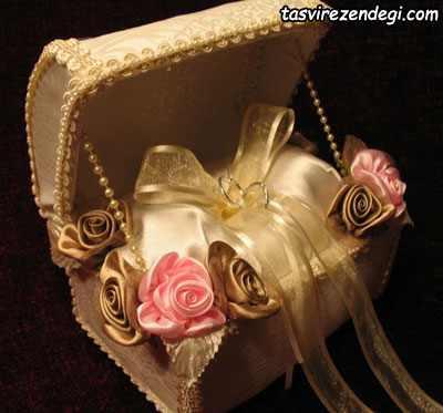 مدل صندوقچه جا حلقه ای عروس