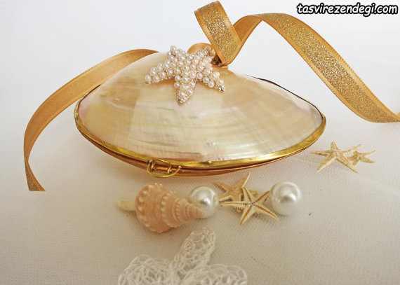 مدل جا حلقه ای عروس صدفی