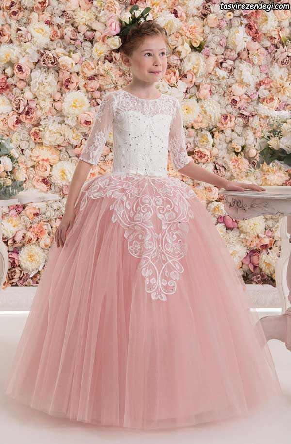 لباس پرنسسی بچگانه صورتی