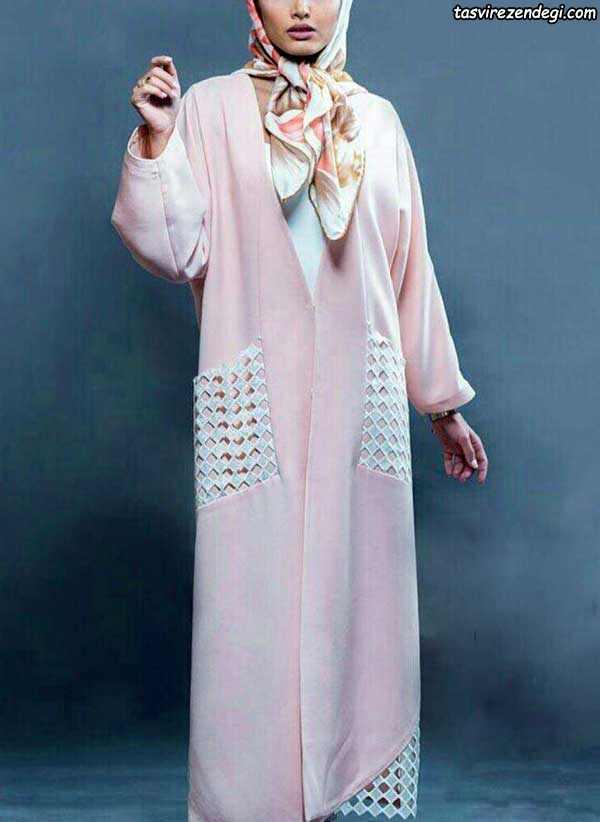 مدل مانتو تابستونی نخی کیمونو جلو باز