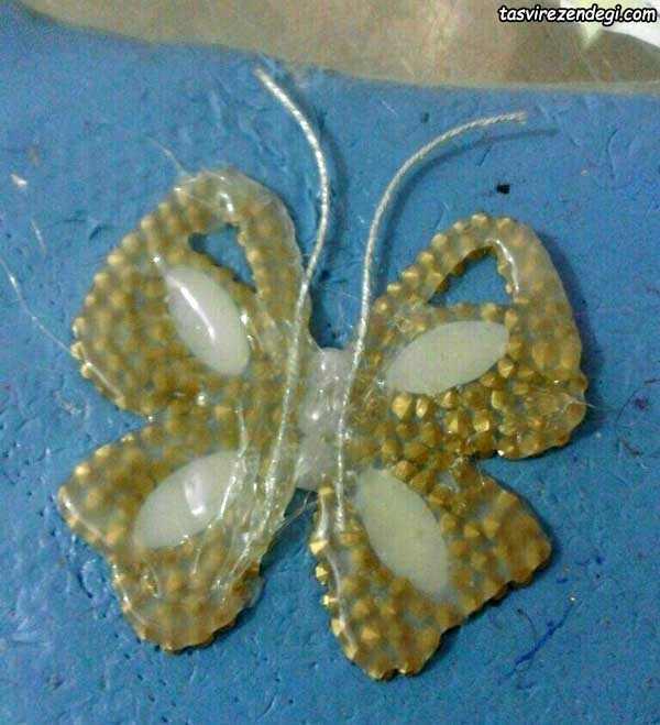 آموزش ساخت گیره سر پروانه ژله ای