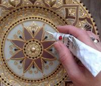 نقطه کوبی طروف , نقاشی نقطه ای روی ظروف