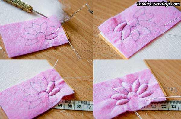 آموزش ساخت سنجاق سینه گل کوکب