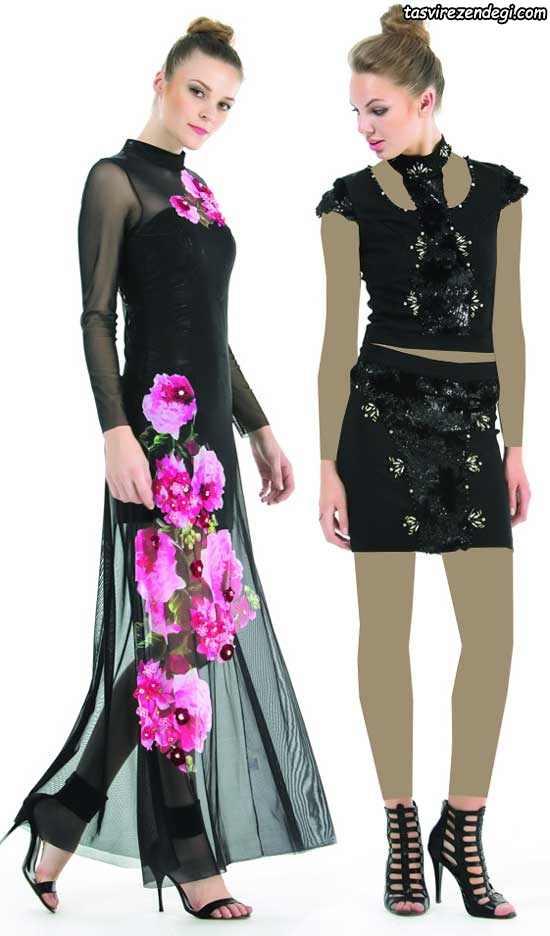 مدل لباس مجلسی ترکیه ای ,مدل دو تیکه مجلسی