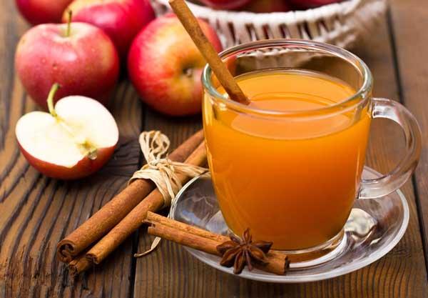 دمنوش سیب و دارچین