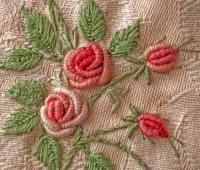 آموزش گلدوزی با دست, دوخت گل رز با کوک شمشی