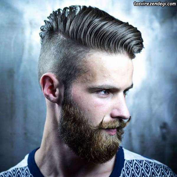 مدل مو برای صورت گرد,مدل موی کوتاه با ریش