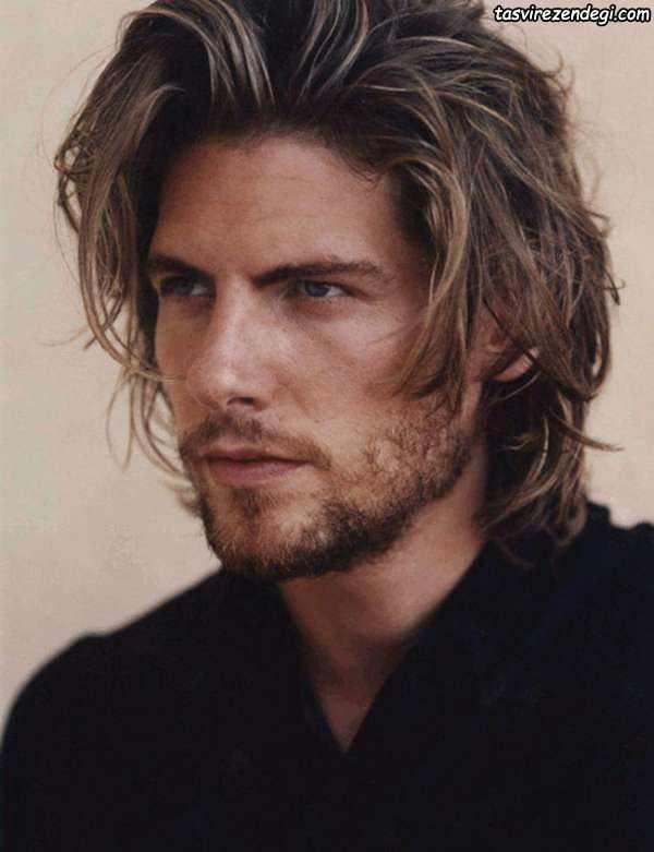 مدل موی بلند مردانه , مدل مو برای صورت کشیده