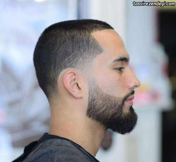 مدل موی کوتاه با ریش