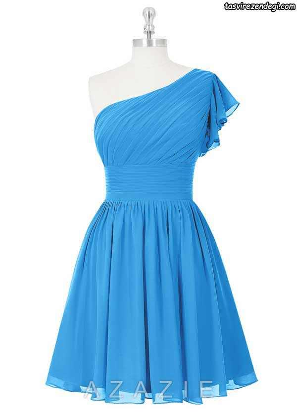 لباس مجلسی یقه رومی کوتاه دخترانه