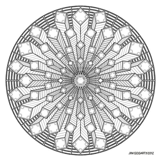 geometric coloring pages advanced nature - photo#47