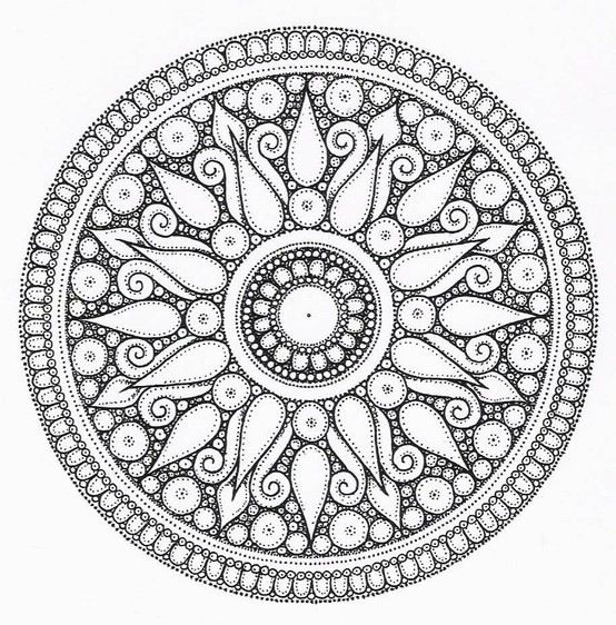 Geo Flower Stencils : طرح خام نقطه کوبی و ویترای روی شیشه سفال مجله تصویر زندگی