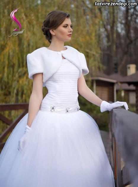 عکس شنل خزدار عروس جدید