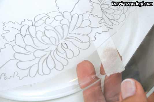 آموزش نقاشی برجسته روی بشقاب