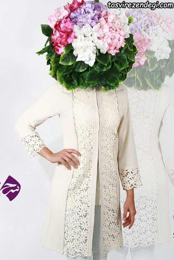 مدل مانتو مجلسی سفید, مانتو عروس ,مانتو برای عقد