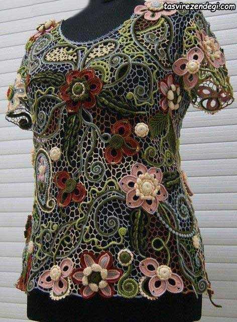 لباس بافت ایرلندی, کاربرد موتیف حلزونی