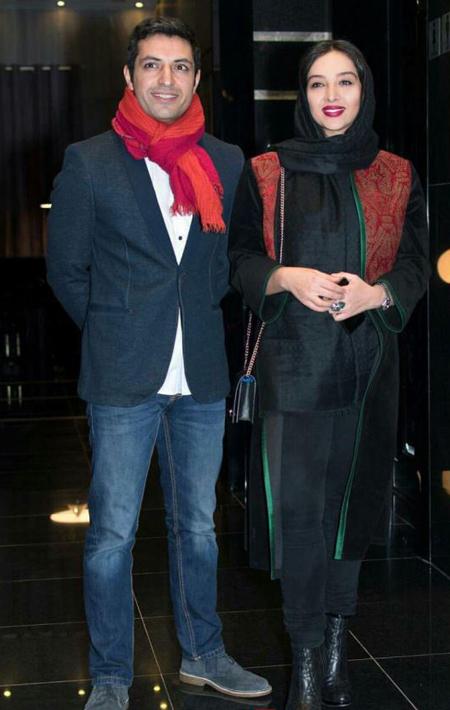 عکس اشکان خطیبی و همسرش , تصاویر بازیگران با همسرانشان