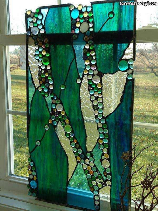 طرح ویترای , نقاشی روی شیشه پنجره