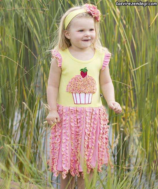 مدل لباس نخی بچگانه , پیراهن تابستانی دخترانه