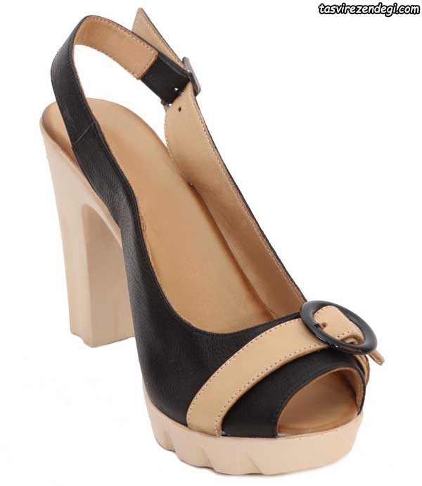 کفش تابستانی پاشنه دار سیاه