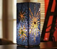 طرح ویترای , نقاشی روی شیشه آباژور