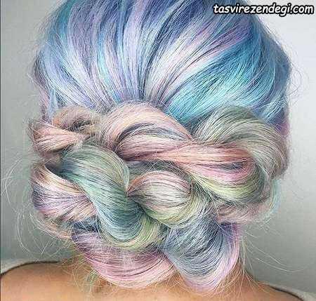 مدل مو دخترانه با رنگ خاص