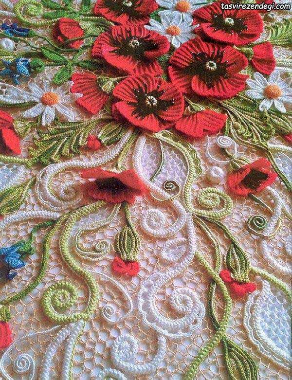 مجله تصویر زندگی بافت اسکاج هندوانه با قلاب لباس بافت ایرلندی, کاربرد موتیف حلزونی