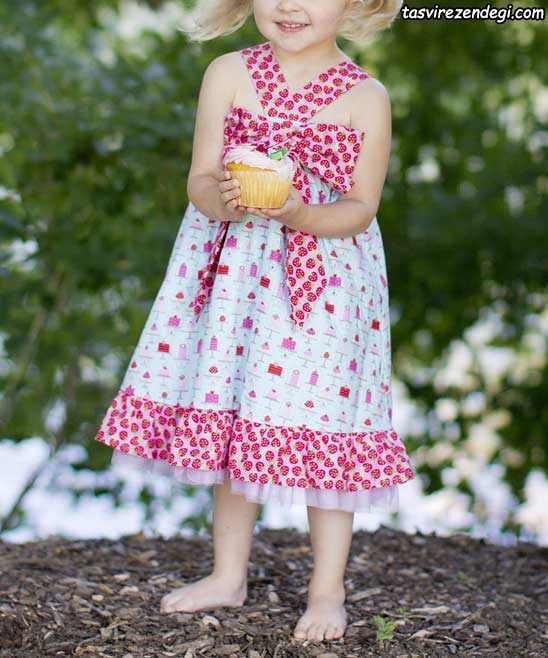 مدل لباس تابستانی دخترانه ,پیراهن تابستانه بچگانه